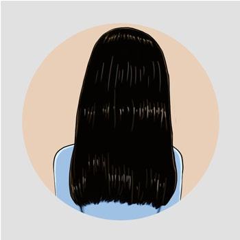 Cheveux après utilisation du kardoune