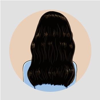 Cheveux avant l'utilisation du kardoune