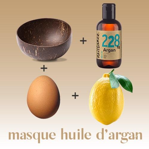 Masque à l'huile d'argan pour les cheveux